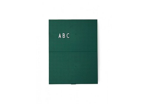 Design Letters A4 Dark Green Message Board by Design Letters