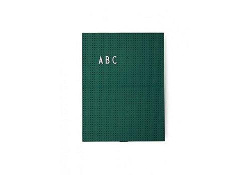 Design Letters Message Board A4 Vert Foncé par Design Lettres