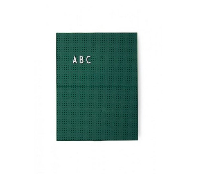 A4 Dark Green Message Board by Design Letters