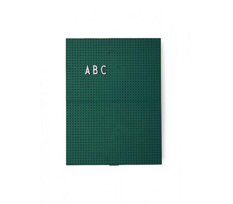 Message Board A4 Vert Foncé par Design Lettres