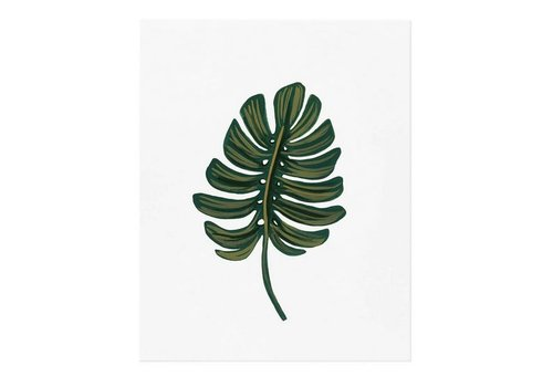 Rifle Paper Co. Monstera Leaf 8 x 10 Print by Rifle Paper Co.