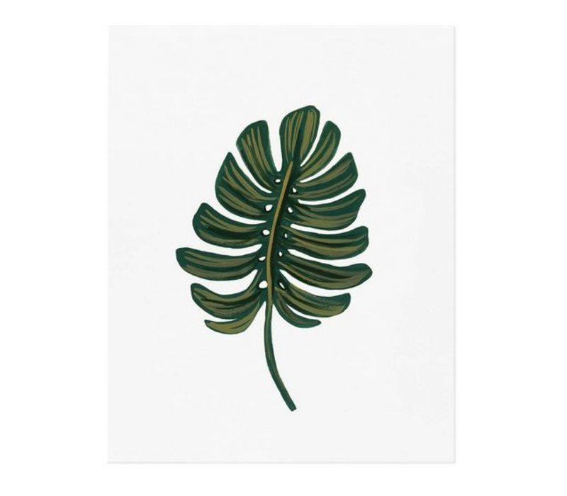 Monstera Leaf 8 x 10 Print by Rifle Paper Co.