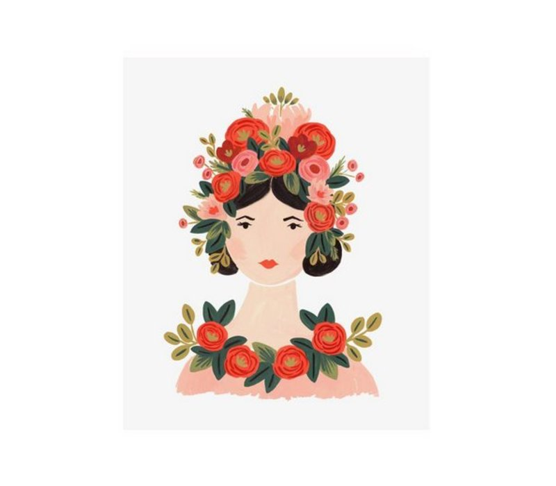 Rosa Print 8 x 10 by Rifle Paper Co.