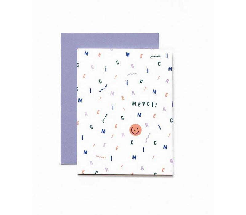 """""""Merci"""" Card by Bien à Vous."""