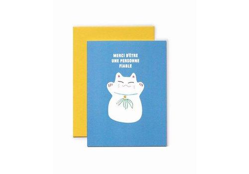"""""""Merci d'être une personne fiable"""" Card by Bien à vous"""