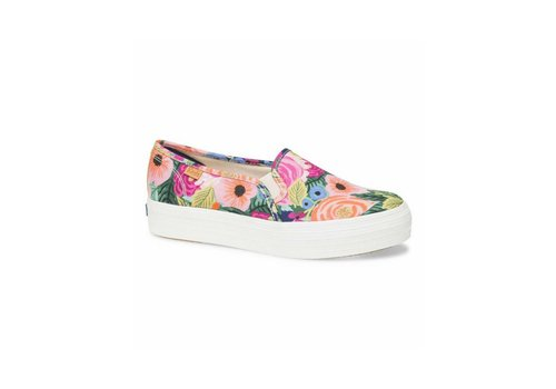 Keds x Rifle Paper Co. Keds X Rifle Paper Co. Triple Deck Juliet Floral Shoes in Navy