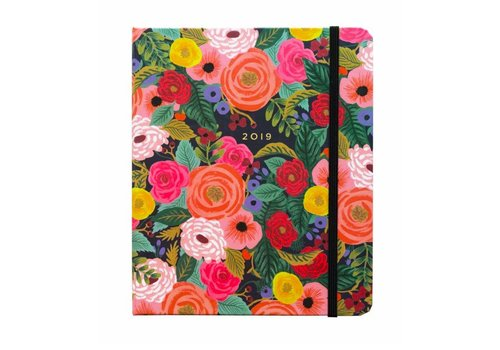Rifle Paper Co. 2019 Covered Spiral Juliet Rose Planner by Rifle Paper Co