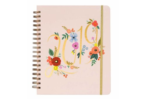 Rifle Paper Co. 2019 Large Spiral Bound Bouquet  Planner by Rifle Paper Co