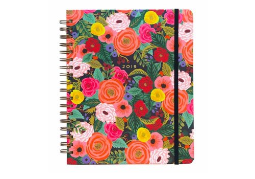 Rifle Paper Co. 2019 Large  Spiral Bound Juliet Rose Planner by Rifle Paper Co