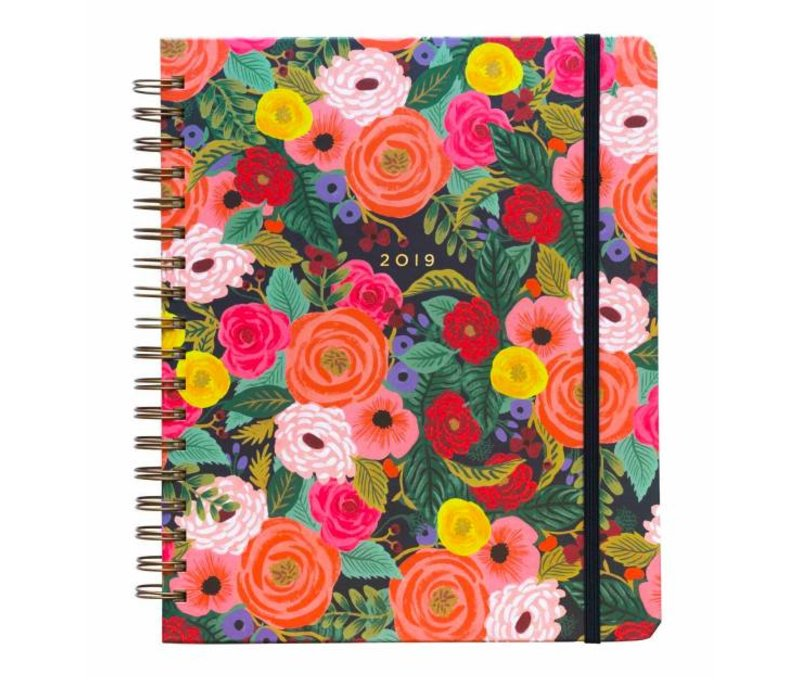 2019 Large  Spiral Bound Juliet Rose Planner by Rifle Paper Co
