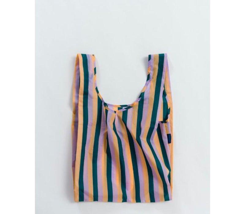 """Grand Sac """"Peach 90s Stripe"""" par Baggu"""