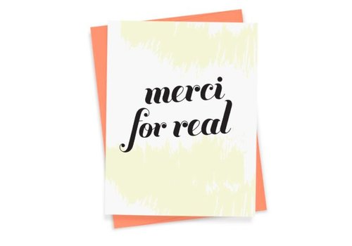 """Merci For Real"" Card by That Sky Blue"