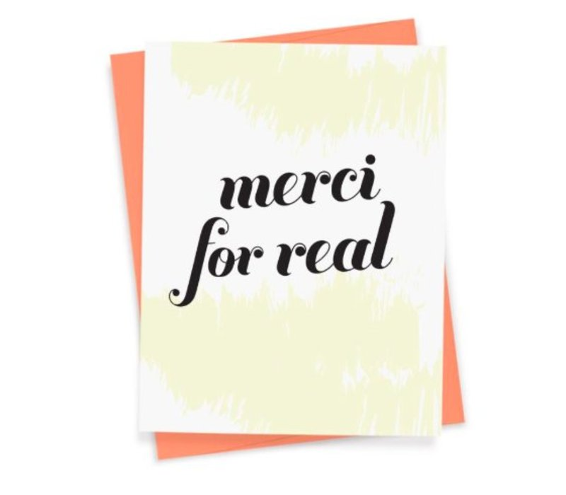 """""""Merci For Real"""" Card by That Sky Blue"""