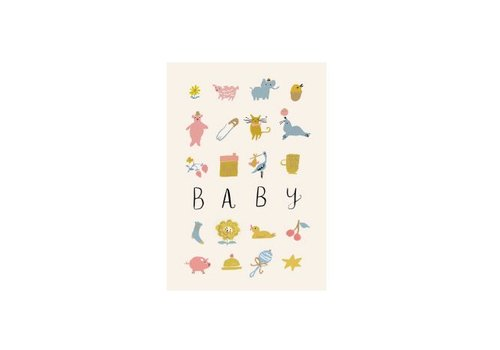 Roger la Borde Baby Card by Roger Laborde