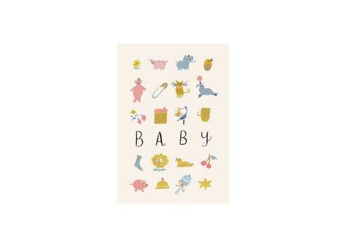 """Roger la Borde Carte """"Baby"""" par Roger Laborde"""