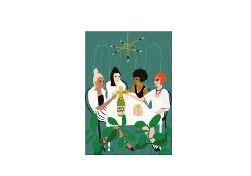 Roger la Borde Girls Night Out Card by Roger la Borde