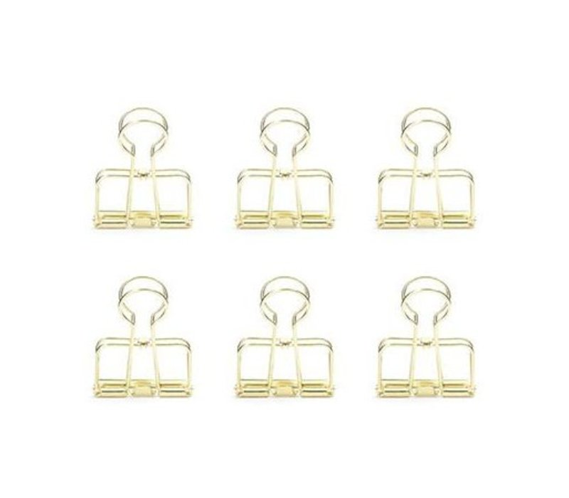 Golden  Wire Clips by Kikkerland