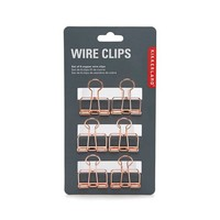 Copper Wire Clips by Kikkerland
