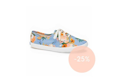 """Keds x Rifle Paper Co. """"Champion Lively Floral"""" Periwinkle par Keds X Rifle Paper Co."""