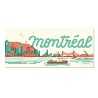 Montreal Skyline Postcard by Paperole