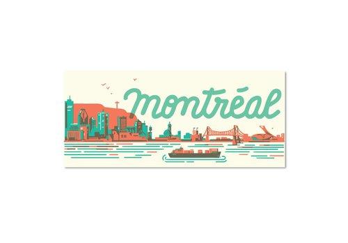 """Carte Postale """"Skyline """" Montréal par Paperole"""