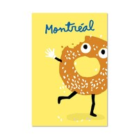 Bagel Postcard by Paperole