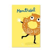 Carte Postale Bagel par Paperole