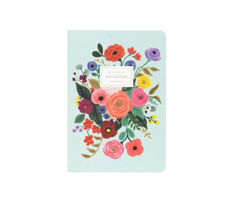 Set of 3 Garden Party Notebooks by Rifle Paper Co.