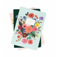 """Ensemble de 3 carnets """"Garden Party"""" par Rifle Paper Co."""