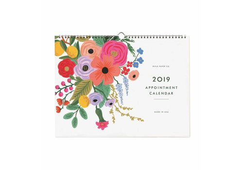 "Calendrier de rendez-vous 2019 ""Garden Party"" par Rifle Paper Co."