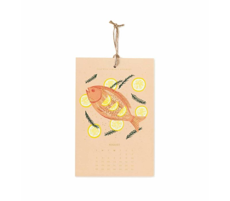 """Calendrier mural 2019 """"Lemon"""" par Rifle Paper Co."""
