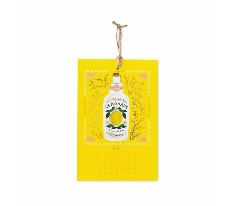 2019 Lemon wall Calendar by Rifle Paper Co.