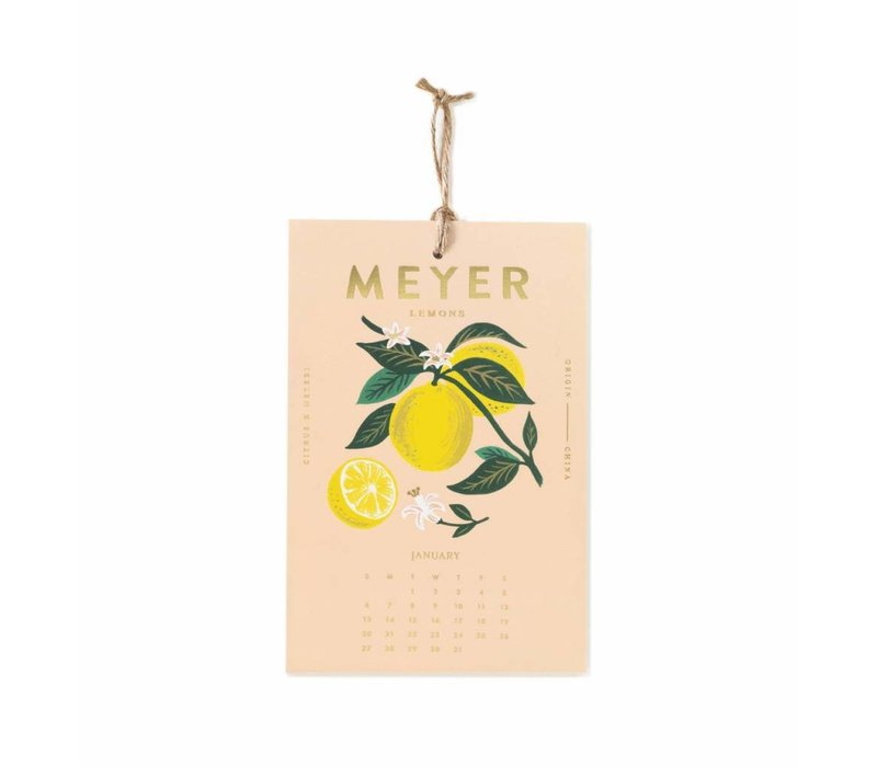 "Calendrier mural 2019 ""Lemon"" par Rifle Paper Co."
