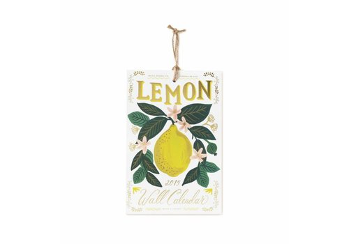 2019 Lemon wall Calendar by Rifle Paper Co.