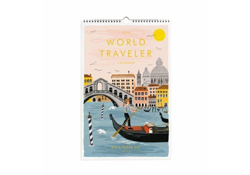 "Rifle Paper Co. Calendrier mural 2019 ""World Traveller"" par Rifle Paper Co."