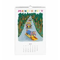 2019 World Traveller wall Calendar by Rifle Paper Co.