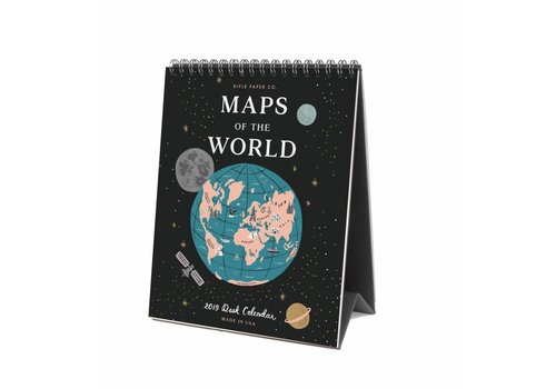 "Rifle Paper Co. Calendrier de bureau ""Maps of the world"" par Rifle Paper Co."