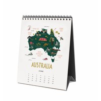 2019 Maps of the world Desk Calendar by Rifle Paper Co.