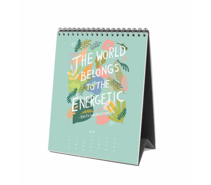 Rifle Paper Co- 2019 Inspirational Quotes Desk Calendar