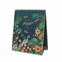 """Calendrier de bureau 2019 """"Midnight Menagerie"""" par Rifle Paper Co."""