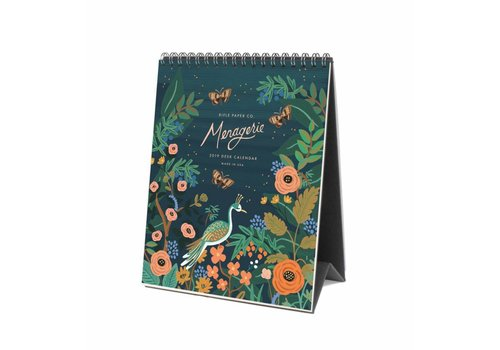 "Rifle Paper Co. Calendrier de bureau 2019 ""Midnight Menagerie"" par Rifle Paper Co."