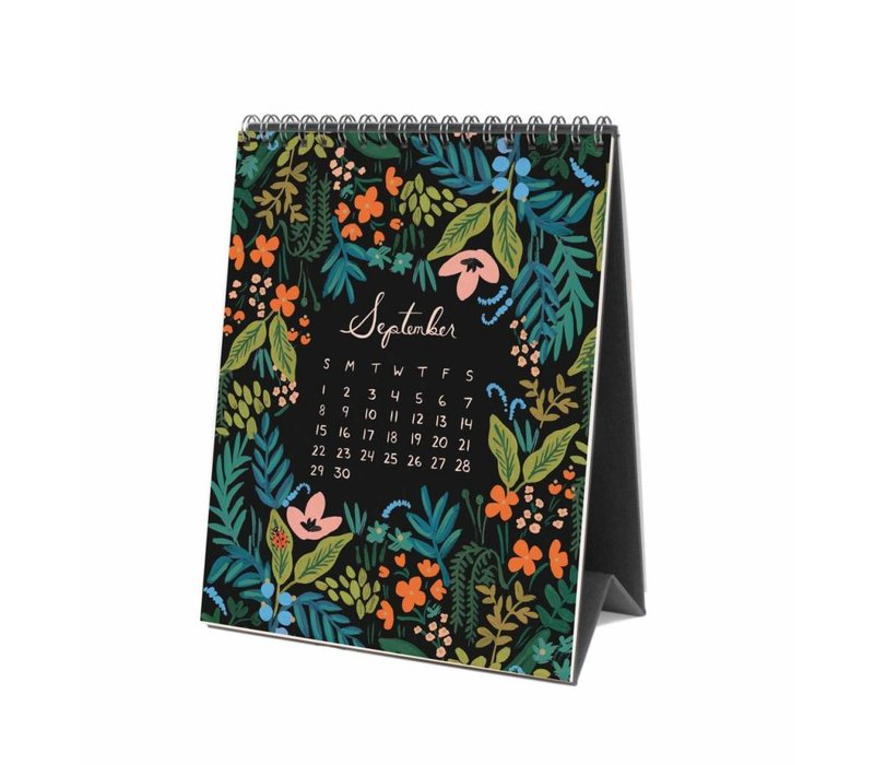 "Calendrier de bureau 2019 ""Midnight Menagerie"" par Rifle Paper Co."