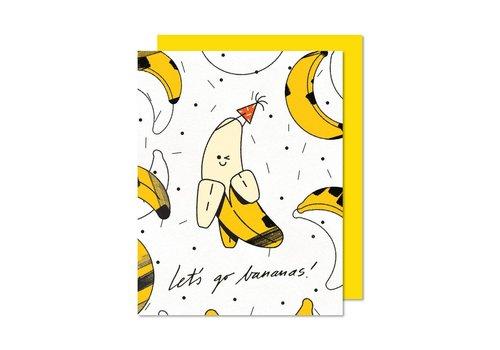 """Carte """"Let's Go Bananas!"""" par Paperole"""