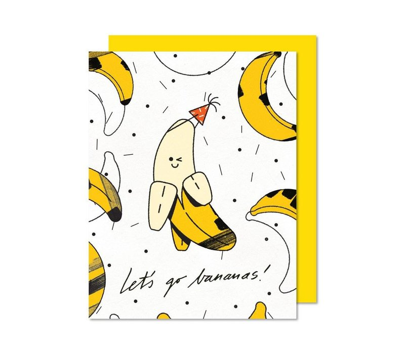 Let's Go Bananas! card by Paperole