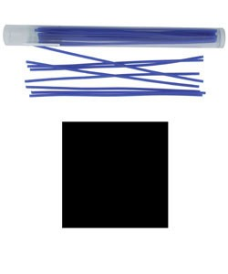 CA694-06 = Wax Wire Blue SQUARE 6ga