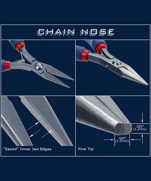 PL30711 = Tronex 711 Chain Nose Pliers - Long Ergo Handle