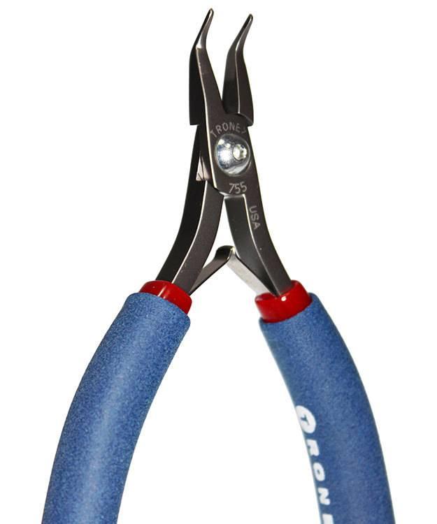 PL30755 = Tronex 755 Bent Fine Nose Extra Fine Pliers - Long Handle