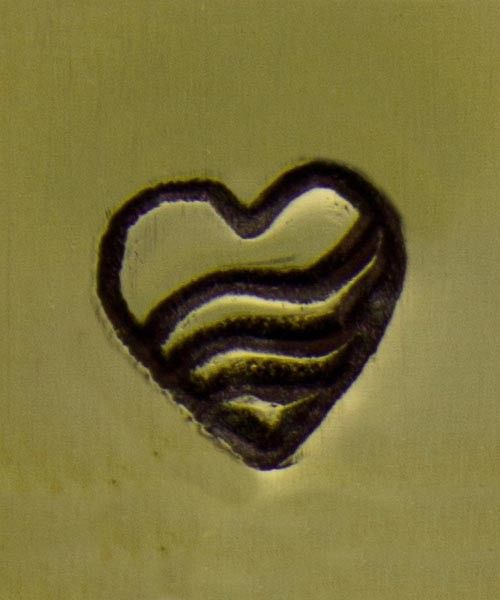 PN5135 = WHIMSICAL DESIGN STAMP - Heart with triple wave