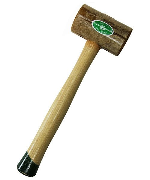 37.714 = Weighted Rawhide Mallet by Garland  (2'' face / 20oz head)