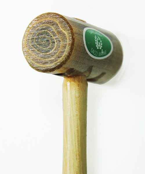37.711 = Weighted Rawhide Mallet by Garland  (1-1/4'' face / 8oz head)